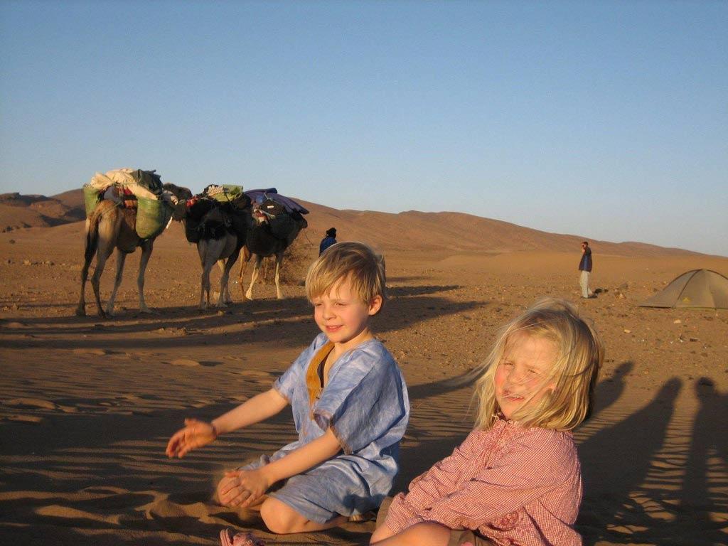 Mon enfant le nomade, rando désert